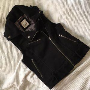 Moto Faux-Fleece Vest